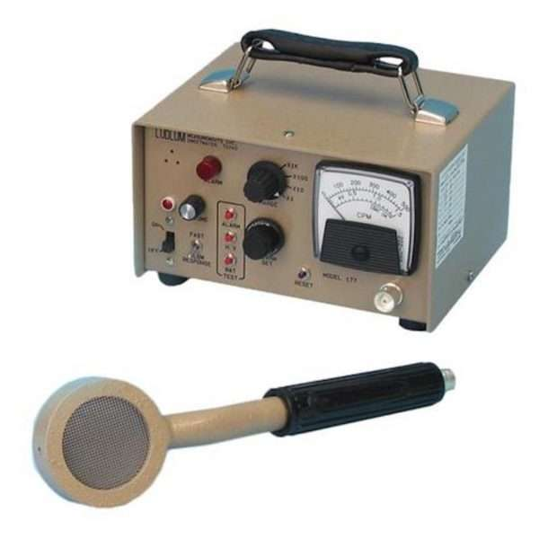 Alarm Ratemeter with Pancake GM Probe and Foot Monitor