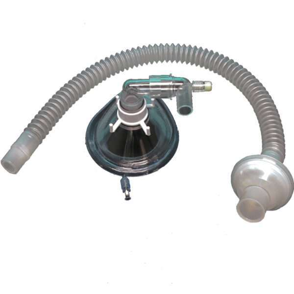 Face Mask with Luer-Lock Injection Port