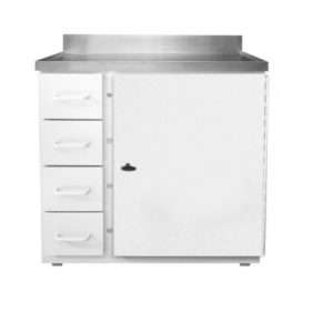 Four Drawer Waste Storage Unit