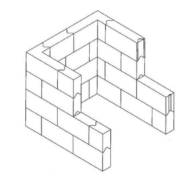 Interlocking Lead Brick Cave