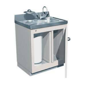 Lead-Lined Sink and Waste Cabinet